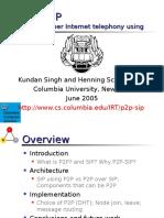 IETF64 P2PSIP AdHoc Update Schulzrinne
