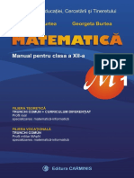 Manual matematica M1 12 Burtea