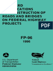 Standard Specifications for Construction of Road and Bridges on Federal Highway Project (1996)