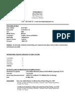 CV Templates Curriculum Tapiwa Mavela