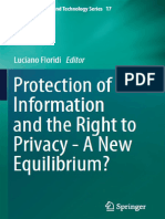 Luciano Floridi-Protection of Information and the Right to Privacy - A New Equilibrium-Springer (2014)
