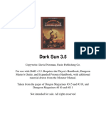 Dark Sun - Campaign Setting D