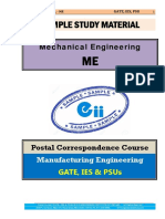 Manufacturing Engineering Mechanical GATE IES PSU Study Material
