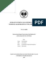 Skripsi (Sistem WAP Portal Untuk Akademik)