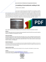 Thermo Mechanical Modeling of Aluminothermic Welding of Rails