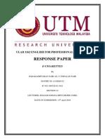 Response Paper~E-Cigarettes