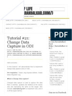 Tutorial #21_ Change Data Capture in ODI