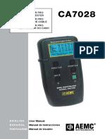 Aemc Ca7028 Manual