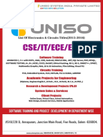 UNISO Electronics Project List(2015-2016)