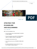 Strategy for Evangelism and Soulwinning