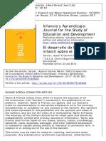 El Desarrollo de La Concepción Infantil Sobre El Aprendizaje