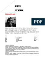 Artaud to Have Done With the Judgement of God