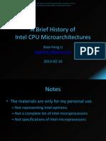 History Intel CPU