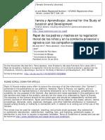 Papel de Los Padres y Madres en La Regulación Moral