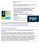 Arab Spring East Europe International Spectator