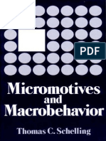 Schelling Micromotives and Macrobehavior 1978