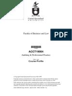 2005 T1 ACCT19064 Auditing Professional Practice
