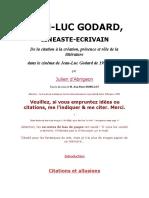 Julien DAbrigeon - Jean-Luc Godard, Cineaste Ecrivain