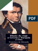 Miranda Francisco Diario de Viaje a Grecia y Turquía (1786)