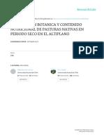 Composicion Botanica y Contenido Nutricional de Pasturas Nativas En