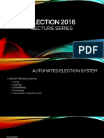 Election Lecture Series