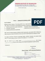 Mait Training Letter