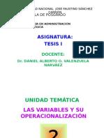6. Variables y Su Operacionalización
