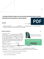 Contestación de Demanda Por Notario Público - Contestación - Nulidad de Los Contratos - Juicio Ordinario Civil - Contratos - VLEX 236648217