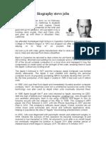 Biography Steve Jobs