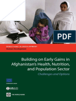 Building on Early Gains in Afghanistan's Health, Nutrition, and Population Sector