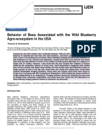 Behavior of Bees Associated with the Wild Blueberry Agro-ecosystem in the USA
