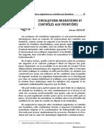 Antoine Pecoud - 2006 - Circulations migratoires et controles aux frontières