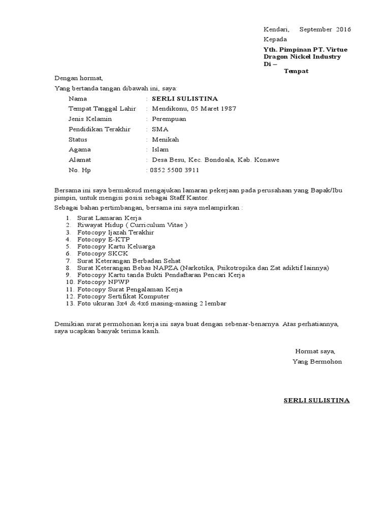 50+ Contoh surat lamaran pekerjaan notaris terbaru terbaik