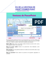 Partes de La Ventana de Microsoft Power Point