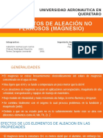 PresentacionTT_Elementos de Aleación No Ferrosos (Magnesio)