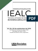 III Jornadas IEALC - Programa