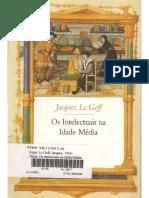 LE GOFF, Jacques. Os Intelectuais Na Idade Média