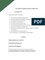 Análisis de Los Artículos 896 Al 922 Del Código Civil Resumen