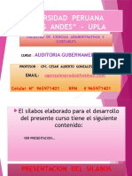 Primera Clase Auditoria g 2016
