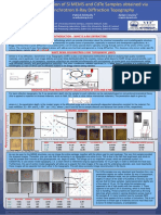 Characterization of Si MEMS and CdTe Samples