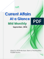 Current Affairs at a Glance Mid Monthly Edkraft September 2016