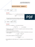 Analisis Matematico i - Ejercicios de Repaso - Semana 01