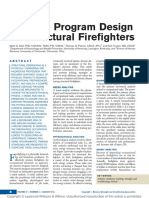 Exercise Program Design for Structural Firefighters