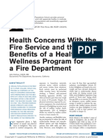 Health Concerns With the Fire Service and the Benefits of a Health and Wellness Program for a Fire Department