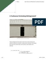 Is Trustlessness Terminating Valid Agreement?