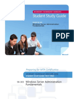 MTA 98-365 Server Admin Fundamentals - Study Guide