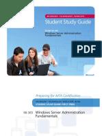 MTA 98-365 Server Admin Fundamentals - Study Guide
