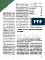 Puri - Kashmiri Muslims, Islam and Kashmiri tradition