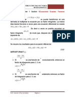 Ecuaciones Exactas Factores Integrantes
