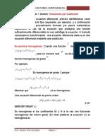 Ecuaciones Homogeneas